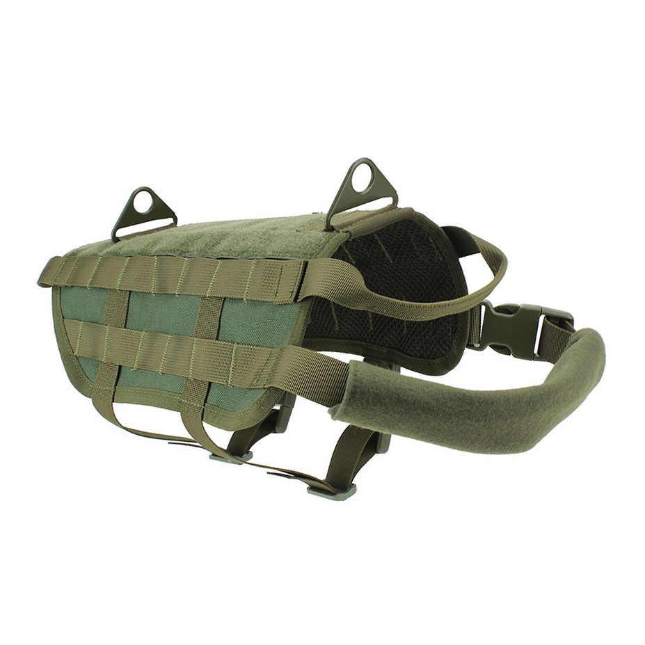 Multifonctionnel Police K9 tactique militaire 1000D Nylon Molle système chien formation chien gilet vêtements charge portant harnais XS-XL