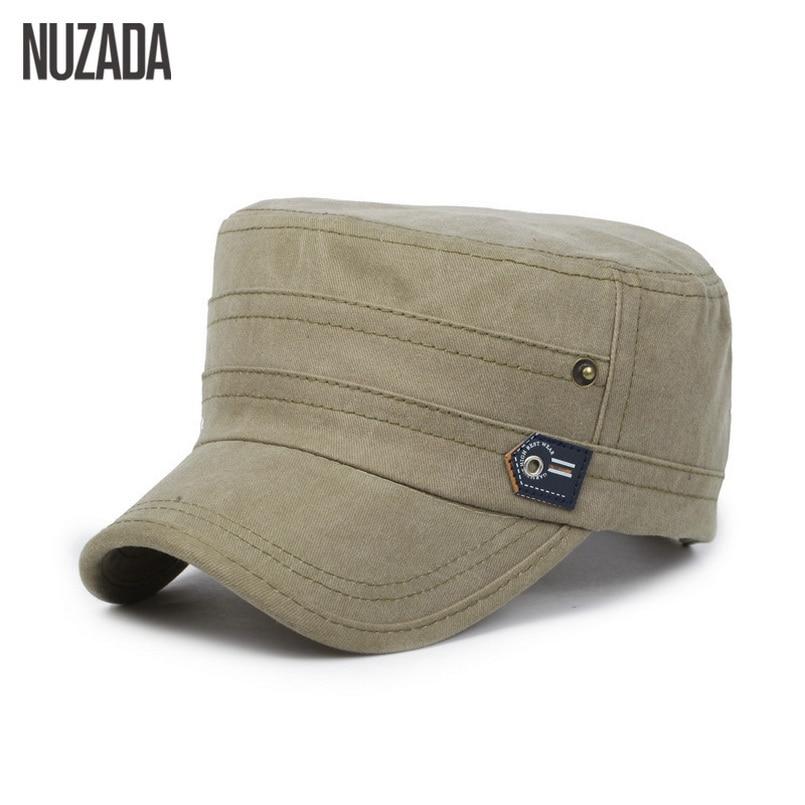Märke NUZADA 2017 Cotton Unisex Män Kvinnor Flat Top Cap Gör - Kläder tillbehör - Foto 3