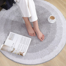 Nordic round carpet thickening computer chair swivel hanging basket mat living room bedroom study modern simple machine washabl