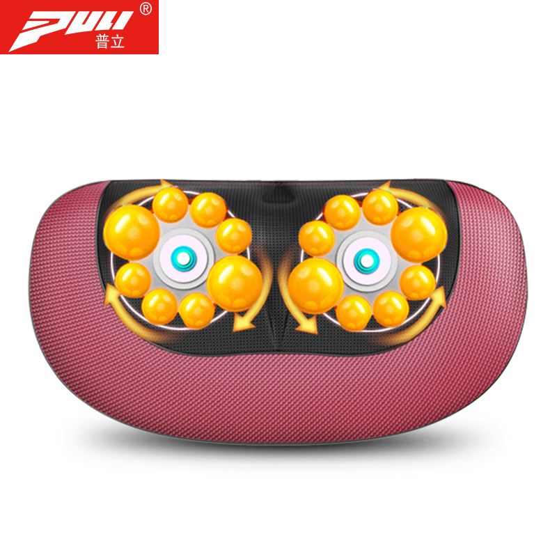 PULI Neck Massager Cervical Shiatsu Massage Neck Back Waist Body Electric Multifunctional Massage Pillow Cushion new multi functional cervical massage body waist electric pillow shoulder back neck cushions massager