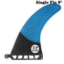 цена UP-Surf 9 inch Fin Fibreglass Surfboard 9 length Blue color Fin Carbono Barbatana in Surfing Longboard Fins stand up paddle онлайн в 2017 году