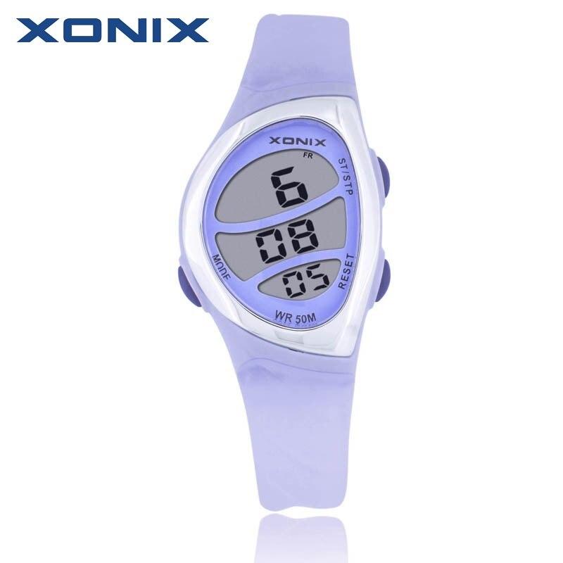 Hot XONIX Fashion Women Sports Watches Waterproof 50m Ladies Jelly Digital Watch Swimming Diving Hand Clock