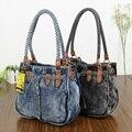 Nueva Manera de La Vendimia de Primavera y Verano Denim Jeans cinturón carteira feminina Mujeres de la Señora de Bolsos de compras Bolsos de Hombro Bolsos