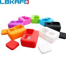 LBKAFA GoPro aksesuarları için 8 renkli kamera kılıfı koruyucu silikon kılıf cilt + Lens kapağı kapak GoPro Hero 5 için kahraman 6 kamera