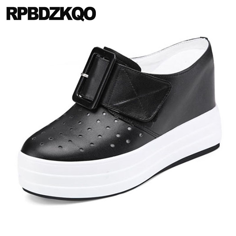 35568b337 Creepers Extreme Ladies 12cm 5 Inch Pumps Harajuku Casual White Wedge Shoes  Hidden High Heels Round Toe Platform Mules-in High Heels from Shoes on ...