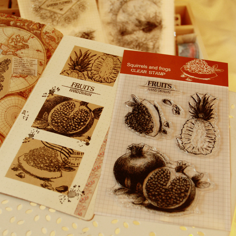 Plant Flowers Fruit Stampin' Up! Craft Rubber Clear Silicone Stamp Scrapbooking Album Diary DIY Decor Photo Paper Card Notebook lovely bear and star design clear transparent stamp rubber stamp for diy scrapbooking paper card photo album decor rm 037