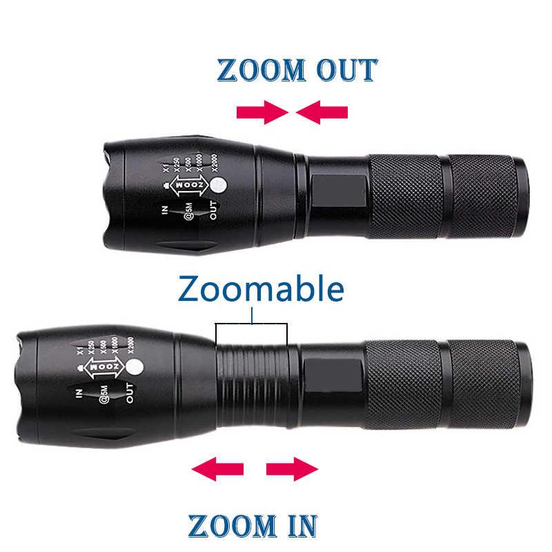 Светодиодный фонарь Факел XM-L2 U3 XM-L T6 XP-G Q5 6000LM 18650 Батарея Открытый Кемпинг мощный светодиодный фонарик