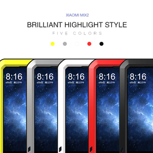 Image 2 - Love Mei Brand Case For Xiaomi Mi MIX 2 Metal Shockproof Phone Cover For Xiaomi MIX2 MIX 2 Full Body Anti Fall Rugged Armor Case