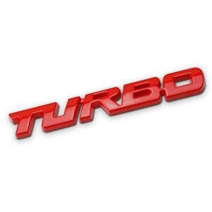 Image 2 - 3D רכב מדבקת מתכת טורבו סמל גוף האחורי אחורי תג לפורד פוקוס 2 3 ST RS פיאסטה מונדיאו Tuga ecosport Fusion