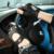 Moda 2016 de Los Hombres de piel de Venado Mitones Sin Dedos de Muñeca Guantes de Medio Dedo de Guante de Conducción Sólida Adulto Real de Cuero Genuino