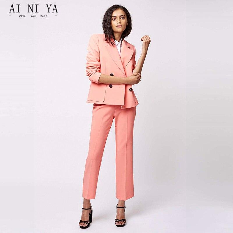 Rosa mujer negocios Trajes femenino uniforme de oficina damas ...