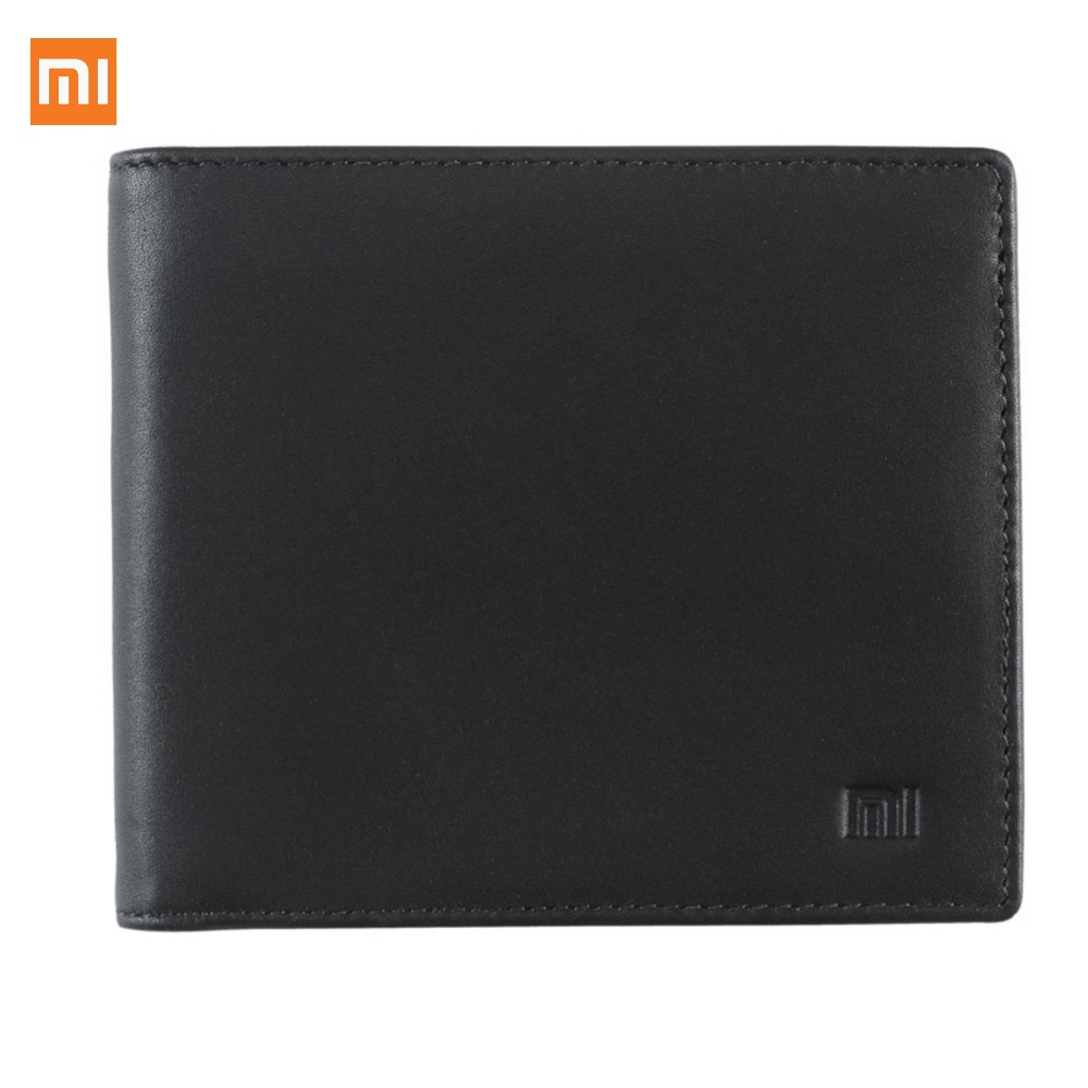 Xiaomi Leather Wallet Full Griand Genuine Soft Purse bag Man Woman Stylish Business High Quality High
