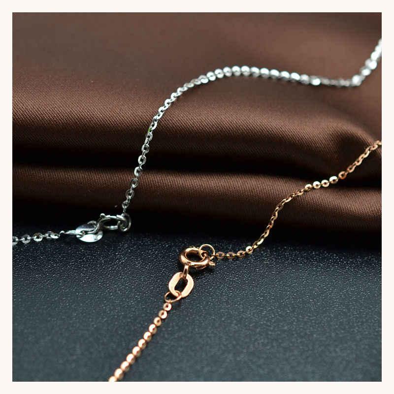 18 K Vàng Nguyên Chất Vòng Cổ Nữ Nữ Cô Gái Tặng Rắn Mới Dây Chuyền Kim Cương-Trang Sức DỰ TIỆC CƯỚI Cao Cấp Thật Chắc Chắn giảm Giá 750 Hot