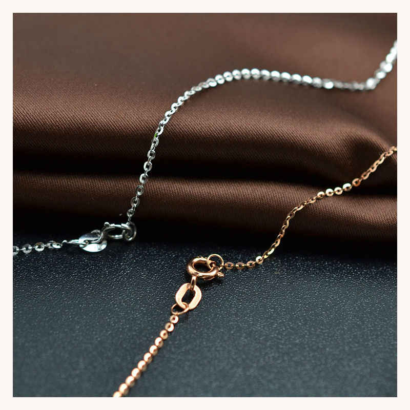 18k Pure Gold Necklace Female Women Girl Gift New Snake Chain Diamond-jewelry Wedding Party Upscale Real Solid 750 Discount Hot