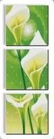 Common Calla Triptych Cross Stitch Kit Flower 14ct Printed Fabric Canvas Stitching Embroidery DIY Handmade Needlework
