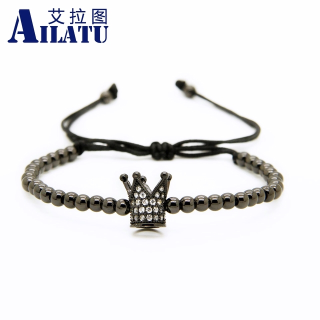 Ailatu Crown Braided Charm Bracelet