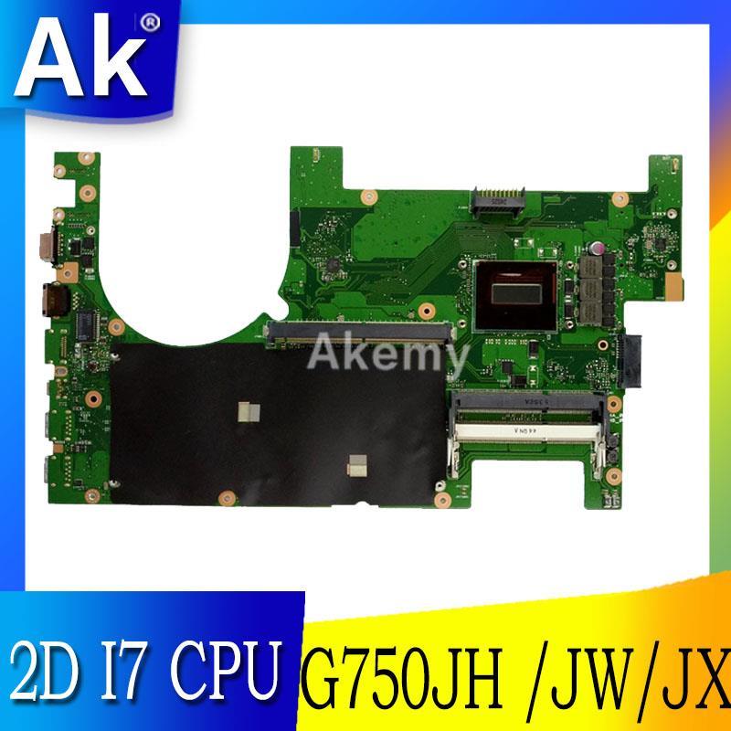 AK G750JW Laptop motherboard for ASUS G750JW G750JH G750JX G750J G750 Test original mainboard 2D I7 CPUAK G750JW Laptop motherboard for ASUS G750JW G750JH G750JX G750J G750 Test original mainboard 2D I7 CPU