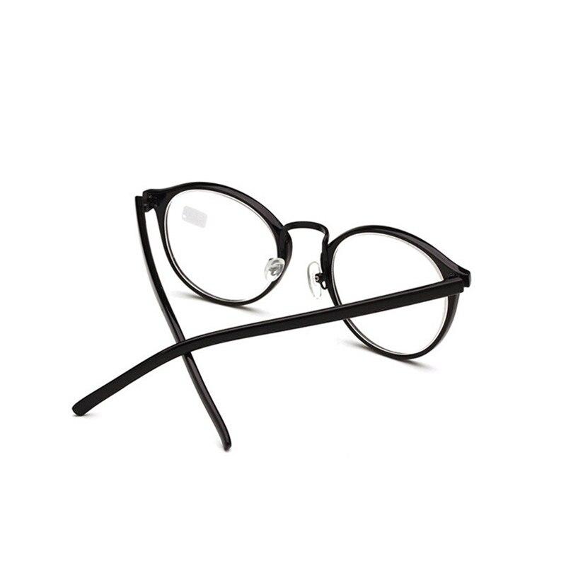 Zilead redondas de Metal Retro miopía gafas marco negro clásico ...