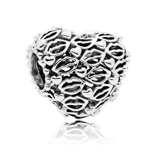 New Arrival 925 Sterling Silver Vintage Love Big Lips Bead Charms Fit Original Women Charm Pandora Bracelet Valentines 2018