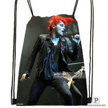 Custom its_my_chemical_romance Drawstring Backpack Bag Cute Daypack Kids Satchel (Black Back) 31x40cm#180611-03-110