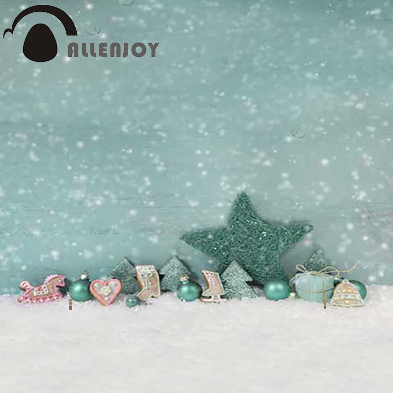Christmas backdrop photography Allenjoy Snowflake stars blur background photographic studio children's camera Digital Printing allenjoy photography background lovely clouds cotton hearts stars rainbow backdrop photo studio camera fotografica