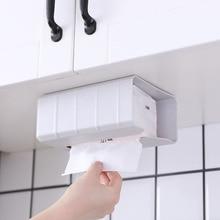 Настенный держатель для бумажных полотенец без следов паста вверх дном кухонная бумажная коробка для хранения салфеток бумажный чехол рулон туалетной бумаги коробка для салфеток