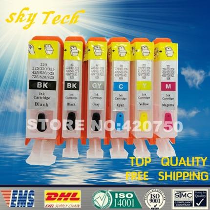 6 צבע דיו דיו refillable עבור PGI425 CLI426, עבור Canon MG6140 MG6240 MG8140 MG8240 IP4840 IP4940 IX6540, עם שבבים ARC