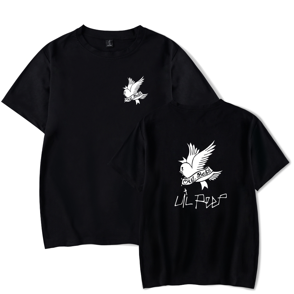 Lil Peep   T     Shirts   Summer Cotton O-neck Black Short Sleeve   T  -  shirts   Male Punk Rock Hip Hop Tops Tee Lil Peep
