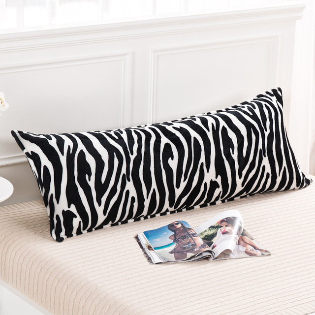 soft decorative pillows. WLIARLEO Coral Velvet Pillowcase Black White Striped Pillow Cover Soft  decorative pillows Print Zebra High Quality