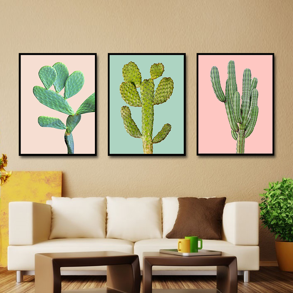 Desert Inspired Accent Wall: Plant Style Desert Cactus Tropical Plants Mexico Feeling