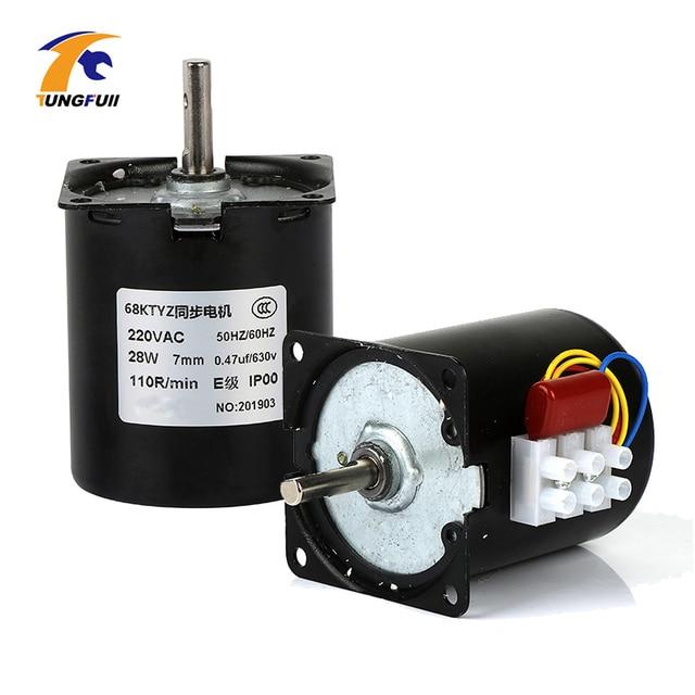 1PC 220V AC 28W 68KTYZ Synchronous Gear Motor 68 KTYZ Permanent Magnet Synchronous Motor 2.5/5/10/15/20/30/50/60/80/110rpm