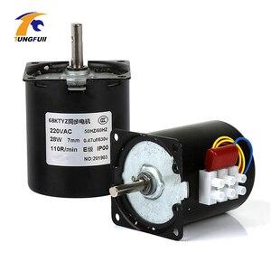 Image 1 - 1pc 220v ac 28w 68ktyz motor síncrono da engrenagem 68 ktyz ímã permanente motor síncrono 2.5/5/10/15/20/30/50/60/80/110rpm