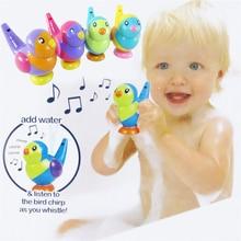 1 шт. прекрасные формы птицы свисток музыкальная песня листы инструменты дети Забавы Детские игрушки для ванной развивающие игрушки