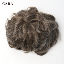 Men Hair Toupee Swiss Lace Front Center Poly Perimeter Hair Replacement System Lace & PU Toupee Men Brazilian Remy Human Hair(China)