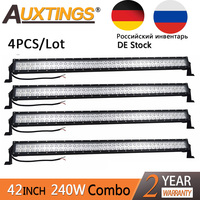 Auxtings Wholesale 4pcs/Lot 240w 40 inch 42 inch led work light bar offroad double rows 4x4 truck led light bar 12v DE RU Stock