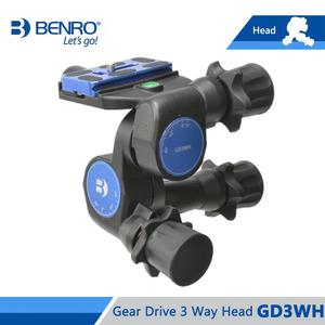 Image 4 - Benro GD3WH Head Gear Drive 3 Way Head Three Dimensional Heads For Camera Tripod Max Loading 6kg Free Shipping