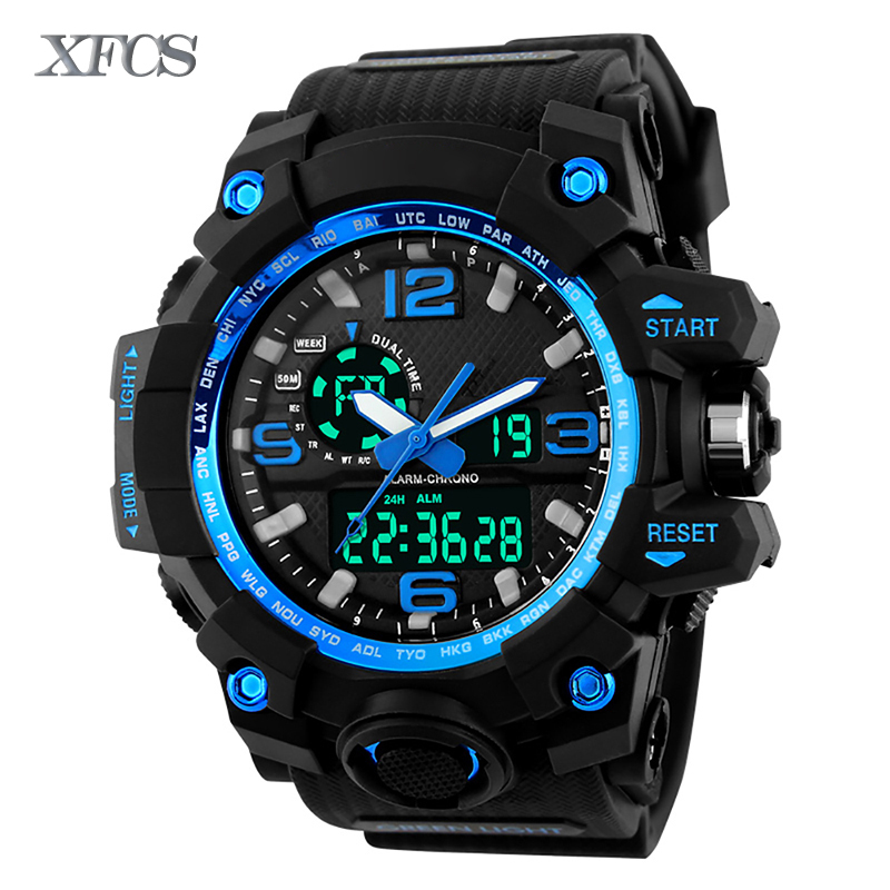 XFCS 2017 waterproof watches for men original man watchs shockesportivo mens top brand digitales watch military cheap G clock