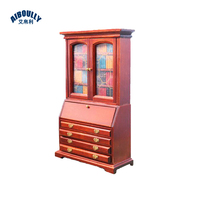 NEW 1:12 Miniature Retro Brown Working Drawer Cabinet Showcase bookcase Dollhouse Furniture Accessories Doll House Use
