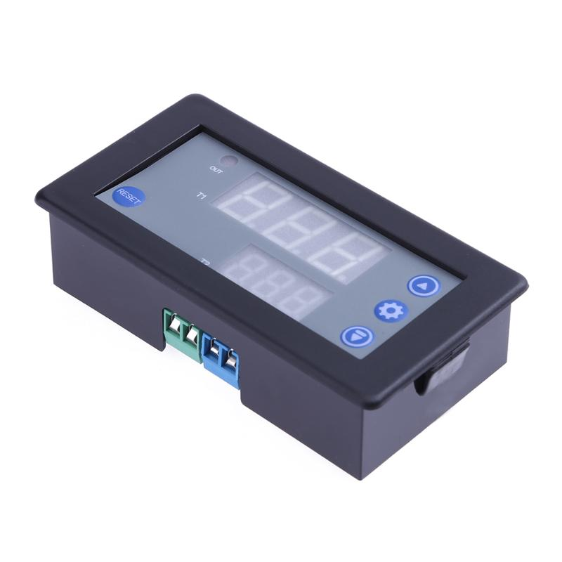 Mini DC 12V 10A Digital LED Dual Display Timing Delay Relay Module Cycle 0-999h Timer Professional Smart Home Accessory 12v led display digital programmable timer timing relay switch module stable performance self lock board