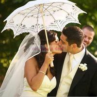 Elegante Nupcial Do Casamento Do Guarda-chuva Guarda-chuva Do Laço Da Senhora Do Vintage Handmade Parasol Nupcial Do Partido Do Casamento Decoração