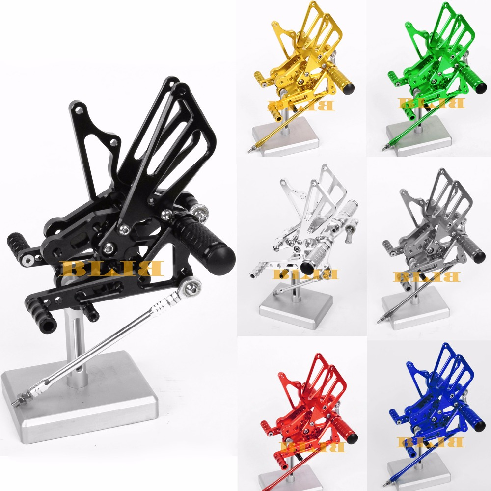 8 Colors For Suzuki GSXR 600 750 -2016 CNC Adjustable Rearsets Rear Set Motorcycle Footrest Moto Pedal 2014 2012
