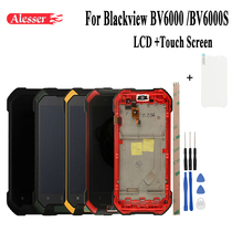 Alesser Android 7.0 For Blackview BV6000S LCD+Touch Screen With Frame Assembly Repair Parts +Tools +Film For Blackview BV6000
