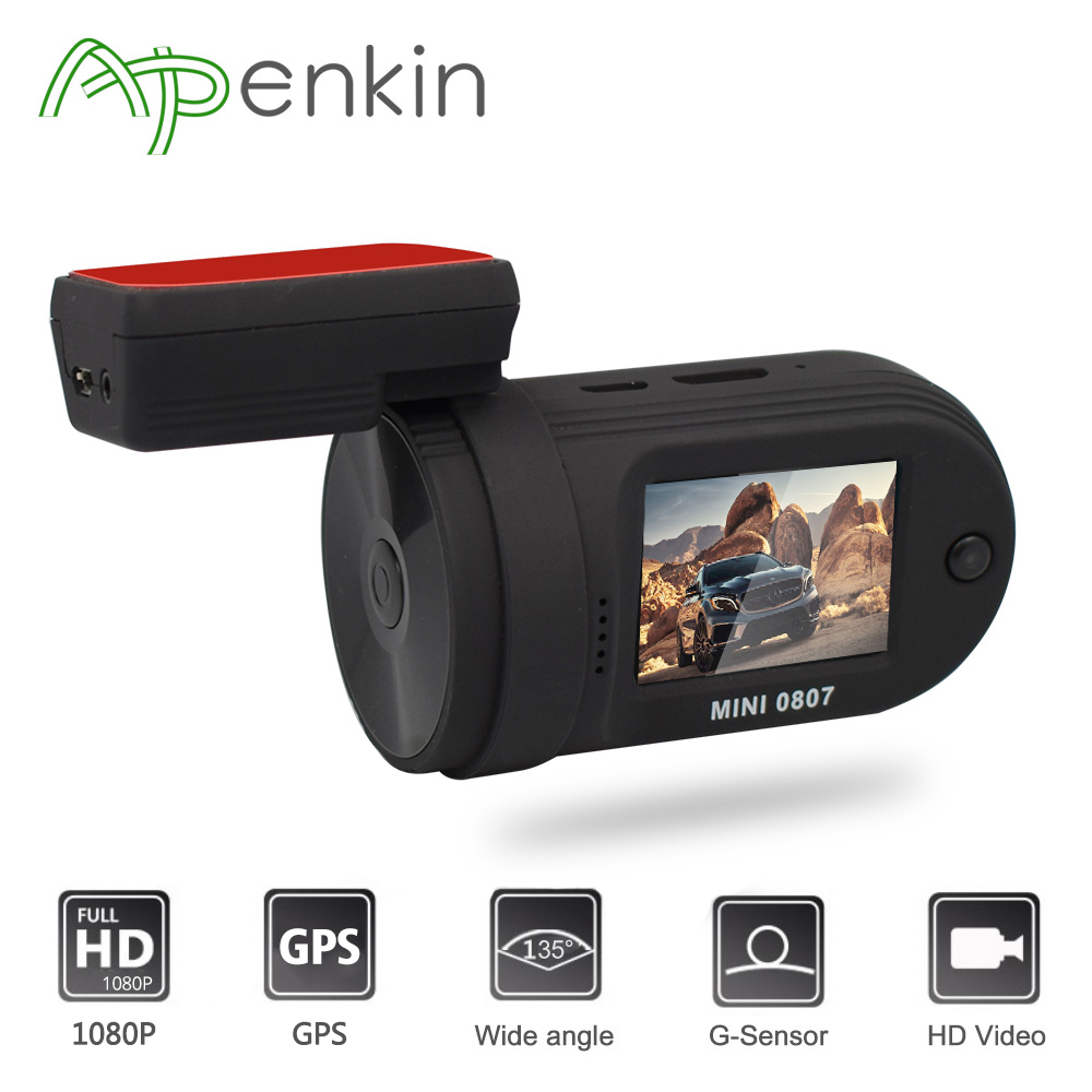 Mini 0807 Dash Camera Upgrade from 0805 DVR 1080P GPS Car DVR One TF Card Port