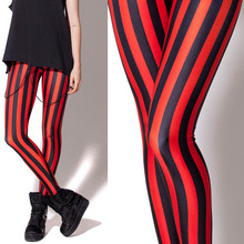 Red Black Women Legging Womens Leggings Pants Sexy  Printed 101012