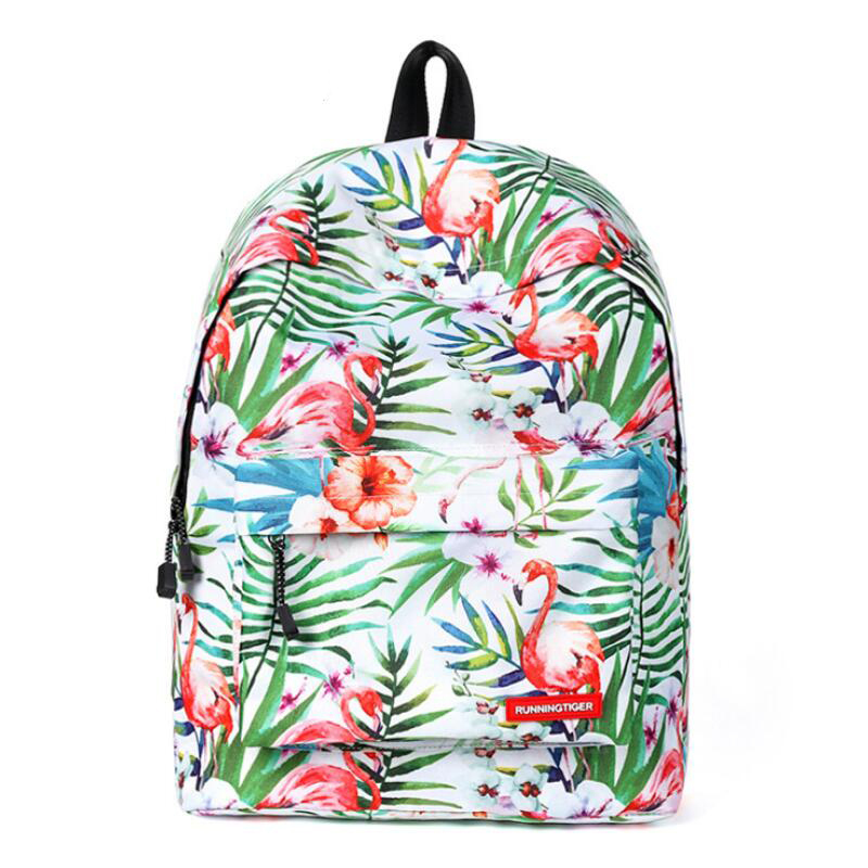 Canvas Backpack Schoolbag Preppy Style Animal Print Backpacks Female Travel Rucksacks For Teenage Girls Shoulder Back Pack Bags