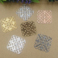 35mm Alloy Square Fallen Petals Charms/Pendant Copper with Antique Bronze/Silver/Black/Gold Plated ,DIY Hairpin Jewelry