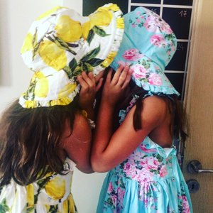 Image 4 - Baby Girls Dress with Hat 2018 Brand Toddler Summer Kids Beach Floral Print Ruffle Princess Party Clothes 1 8Y