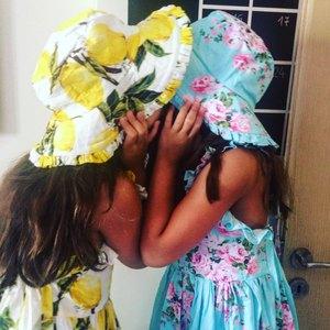 Image 4 - Baby Mädchen Kleid mit Hut 2018 Marke Kleinkind Sommer Kinder Strand Floral Print Rüschen Prinzessin Party Kleidung 1 8Y
