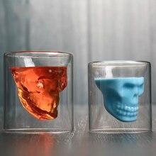 Shot Glasses Whiskey Copo Drinkware Skull-Head Beer 4pc Doo Party-Bar Vaso Transparent