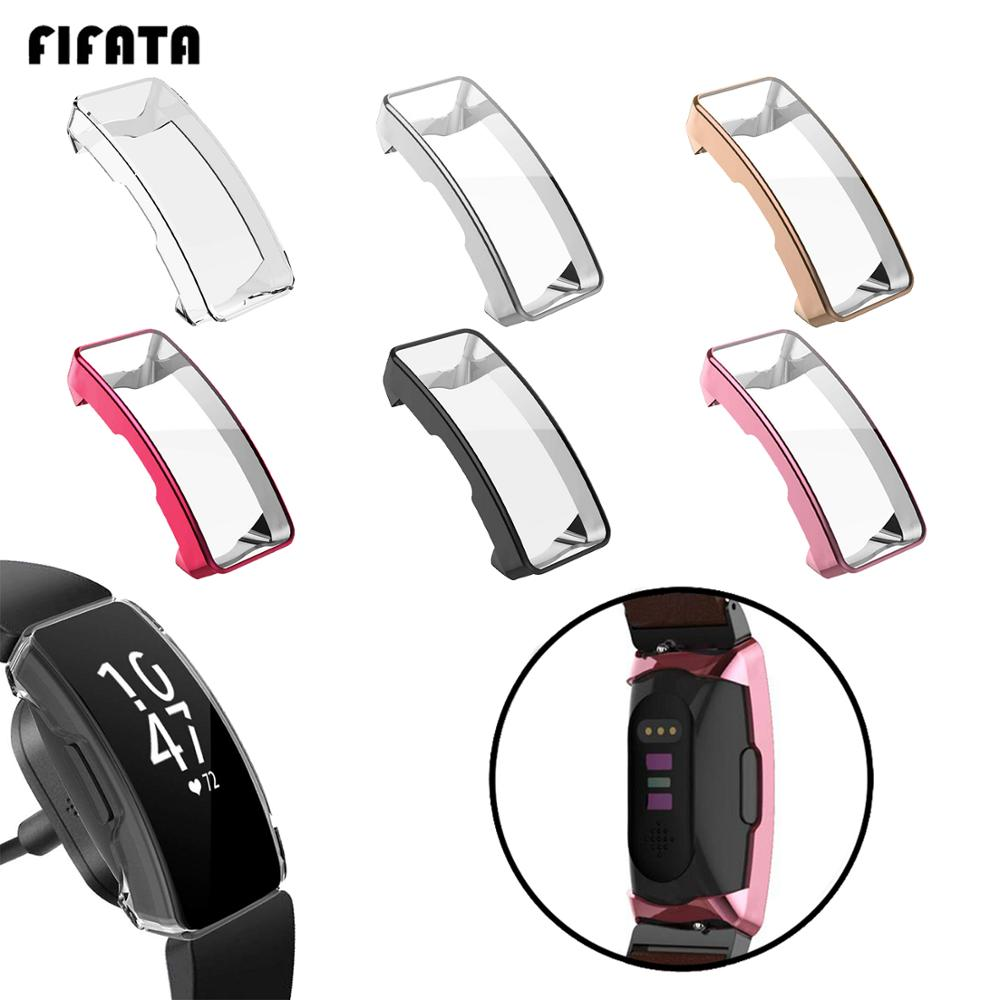 FIFATA TPU Cover Case For Fitbit Inspire HR All Around Screen Protector Shockproof Shell For Fitbit Inspire Band Accessories